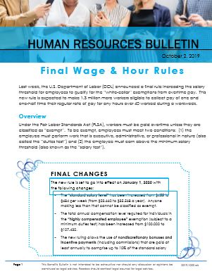Final Wage & Hour Rules -flyer